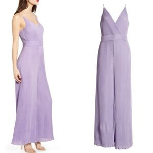 ASTR the Label Textured Jumpsuit PlissÉ in lilac